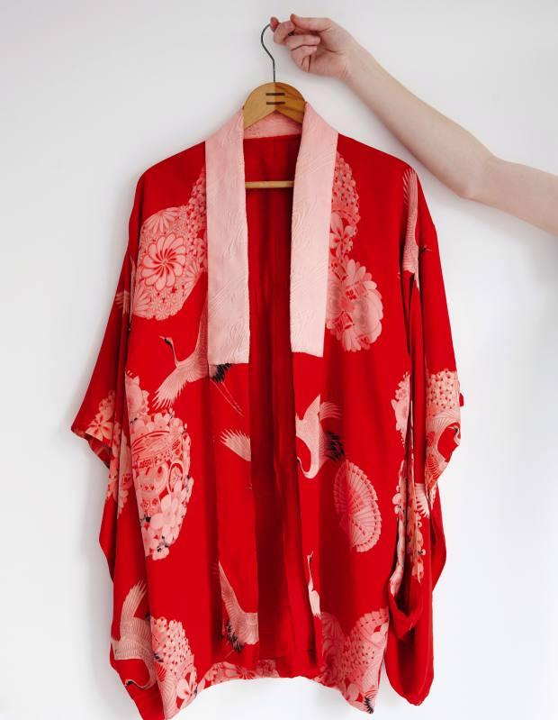 One of Bohinc's vintage kimonos from Japan