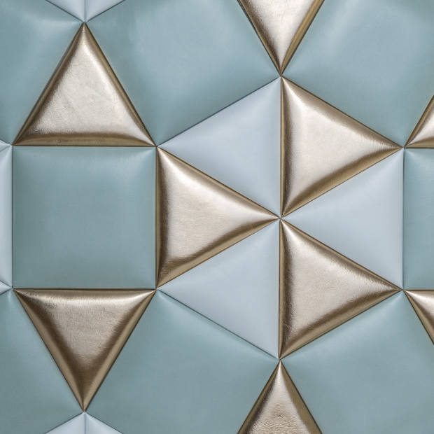 Studioart leather Kaleido wall covering, about £860 per sq m