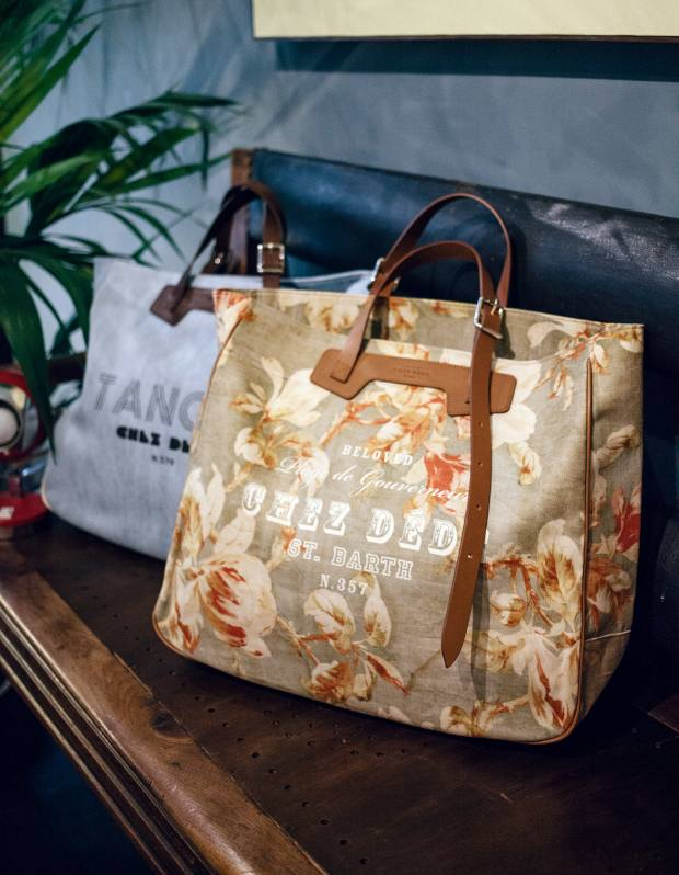 Chez Dédé tote bags, priced at (from left) €350 and €375