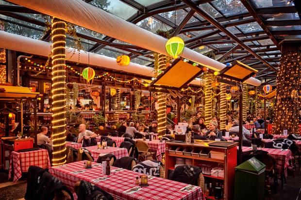 Grøften restaurant is a fun place to eat in Tivoli Gardens