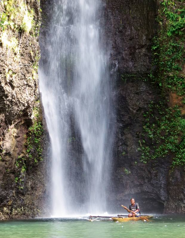 The 25m-high Uramana waterfall, Tufi