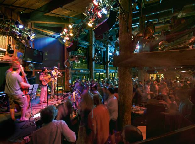 Live music at the Mangy Moose in Teton Village