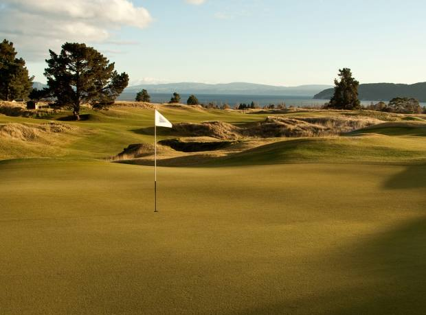 The 16th hole at the Kinloch Club, Taupo