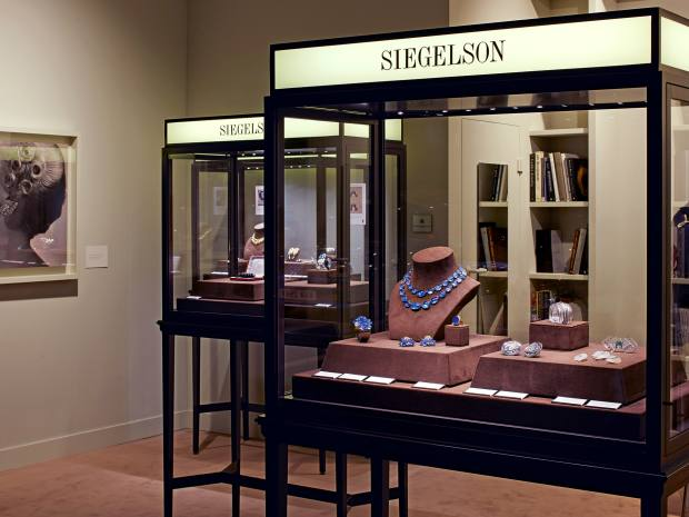 Lee Siegelson's stand at last year's Design Miami/Basel – he is the first fine jeweller to have exhibited at the fair