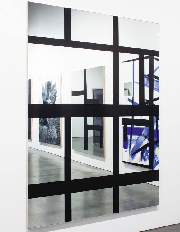 Acrylic on mirrored wood Fenster (Spartakusbund) by Josephine  Meckseper, £65,000