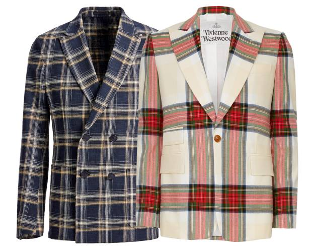 From left: Z Zegna cotton-mix Moscova jacket, £875. Vivienne Westwood cotton jacket, £620