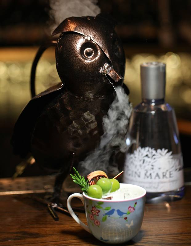 A Yorkshire Punch, £8.50 per serving (the owl holds 4-8 servings), at Nightjar