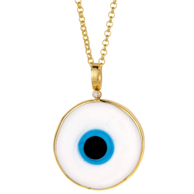 Elena Votsi marble and gold disc pendant, €1,100
