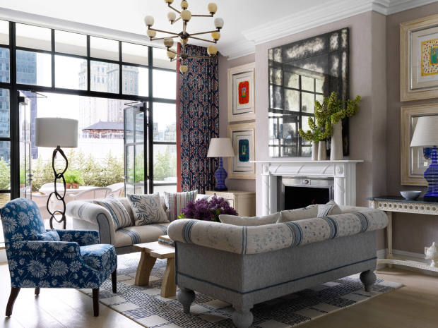 The Whitby Suite living room at The Whitby Hotel, New York