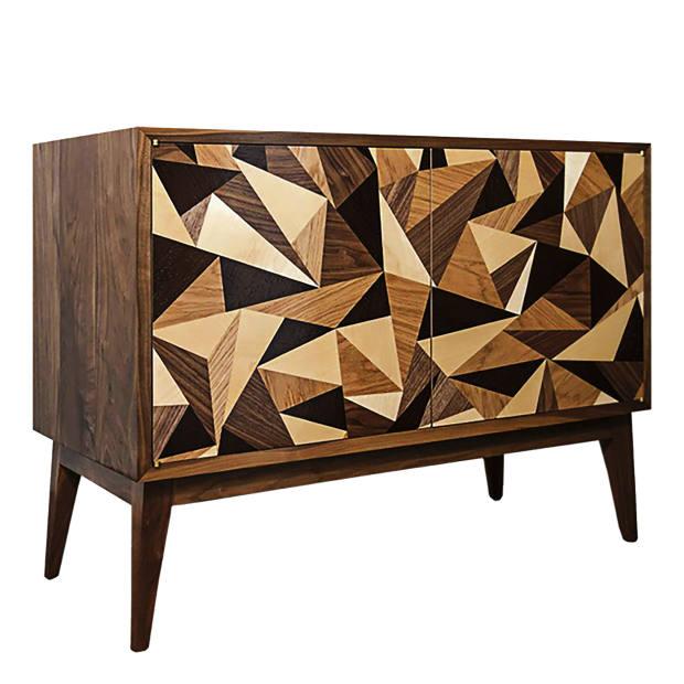 Turner Furniture wenge, oak, maple and walnut Cubist credenza, £3,900