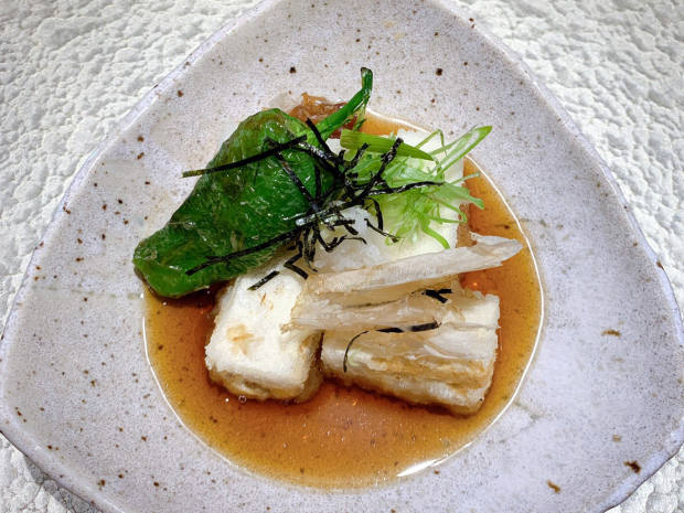 Agadashi tofu in dashi broth, £5.50