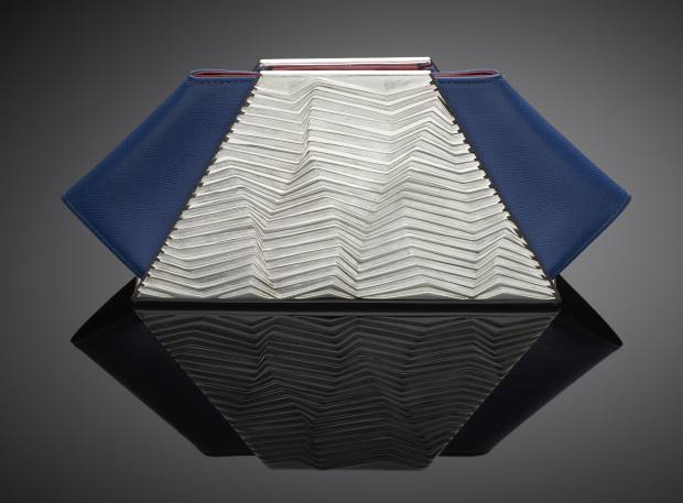 Silver and Leather Clutch by Kyosun Jung, £5,000-£5,200
