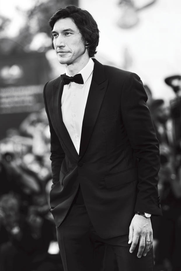 Adam Driver in Burberry at the premiere of Marriage Story
