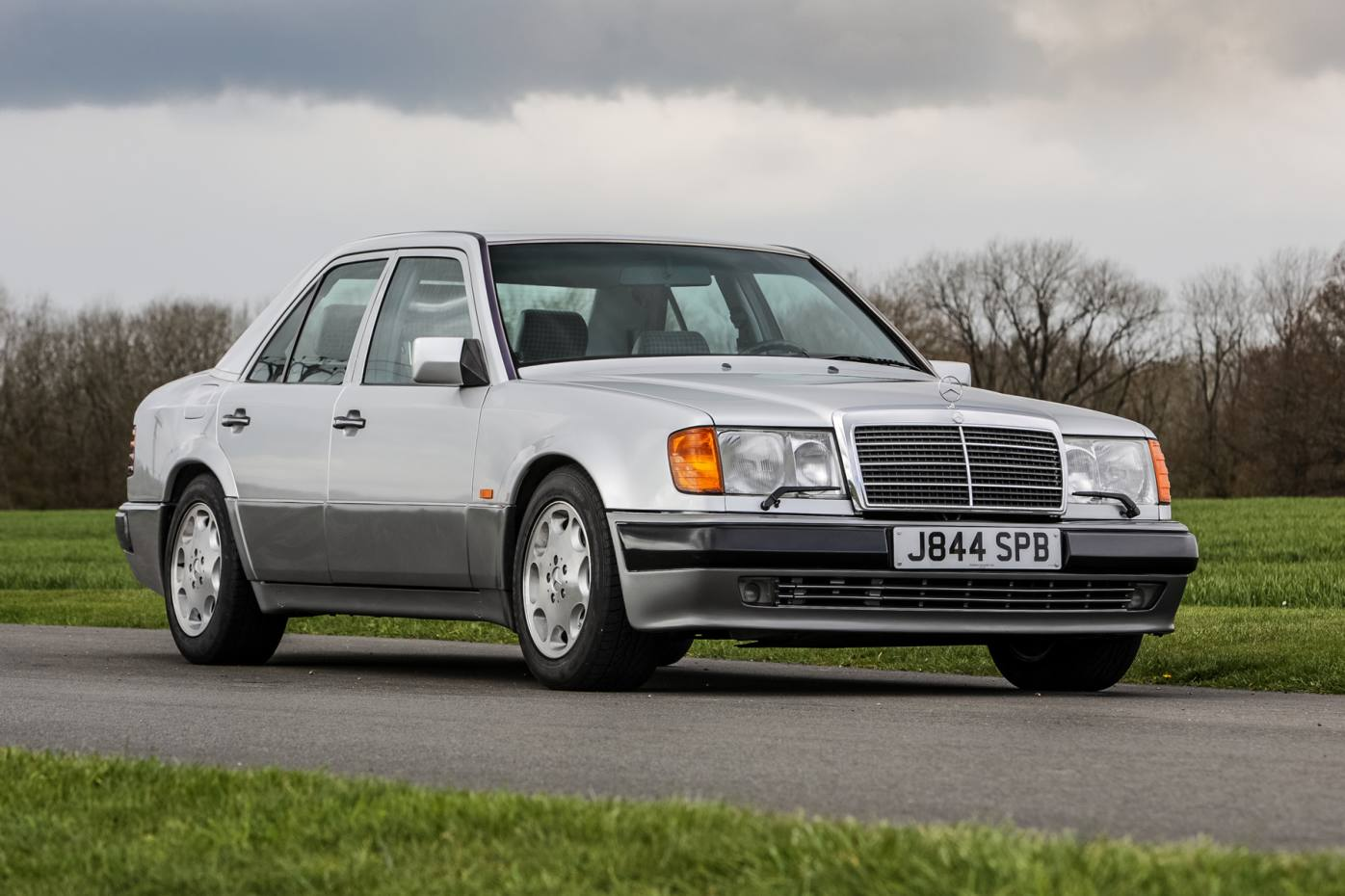Rowan Atkinson's Mercedes 500 E's 5.0-litre V8 engine goes from 0 to 62mph in 5.5 seconds