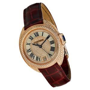 Cartier rose gold and diamond Clé de Cartier watch on alligator strap, £53,500