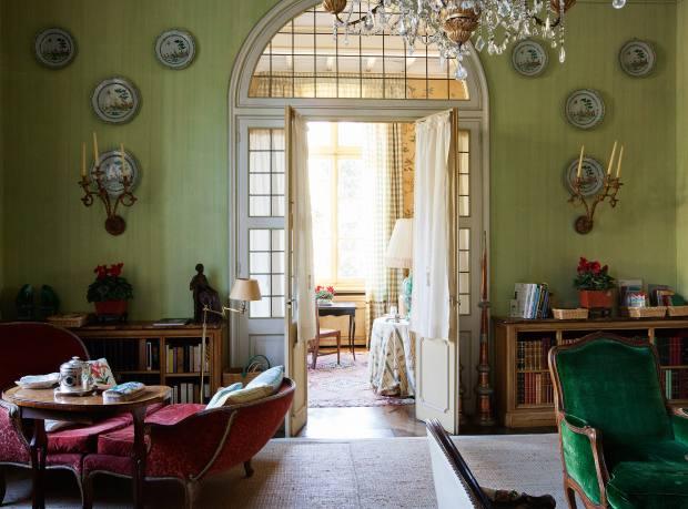 Marella's private reading room at Villar Perosa, near Turin