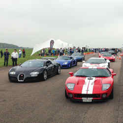 Supercar drivers line up to tackle the 200mph mark at Vmax200's Hypermax event, Bruntingthorpe Proving Ground