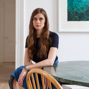 Sophie Hulme at home in London