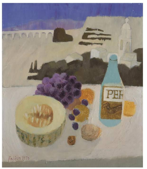 Still Life with Fruit and Bottle by Mary Fedden, £19,500,