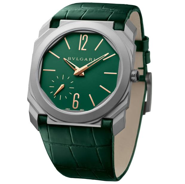 Octo Finissimo Automatic watch on alligator strap, price on request