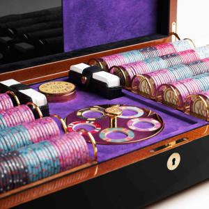 Lancelot Lancaster White deluxe bespoke poker set, from £50,000