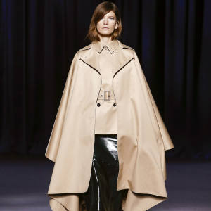 Cotton gabardine cape, £1,735
