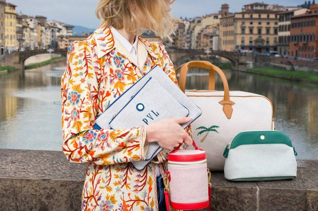 Each Paravel travel bag is hand-stitched in a Florentine atelier