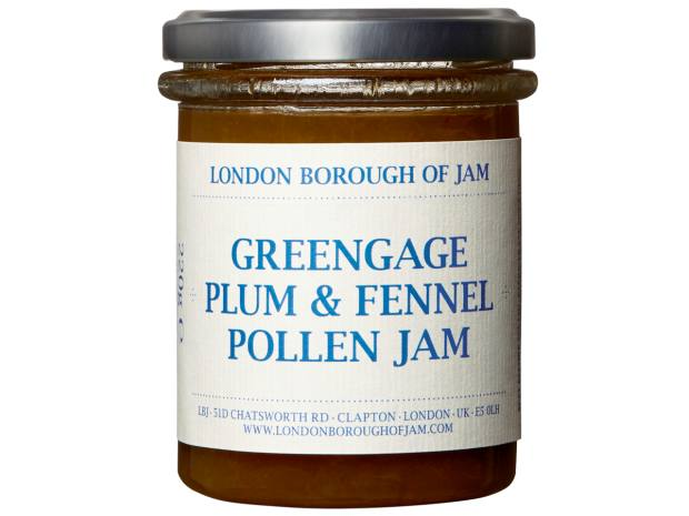 London Borough of Jam greengage, plum and fennel pollen, £6