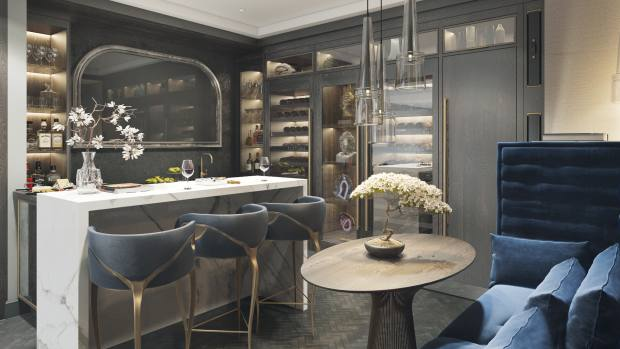 Smallbone of Devizes' recent projects include a New York skyscraper-penthouse kitchen with awalnut and marble wineand cigar room