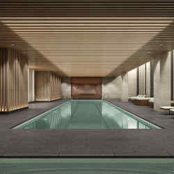 The lap pool at 111 Murray Street in New York's Tribeca, apartments from $2m to over $17.5m