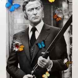 Michael Caine by photographer Terry O'Neill and artist Bran Symondson, £17,500