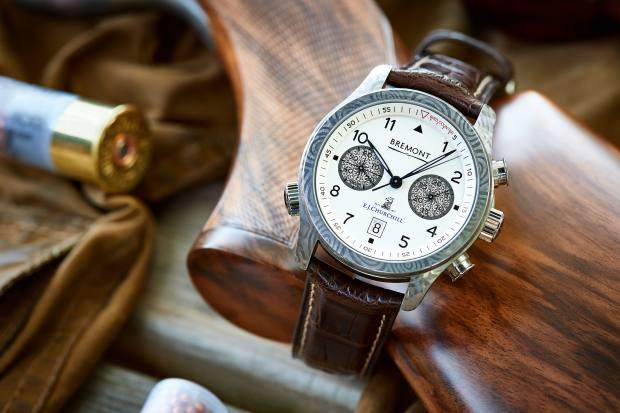 Bremont x EJ Churchill Damascus steel watch, £5,995