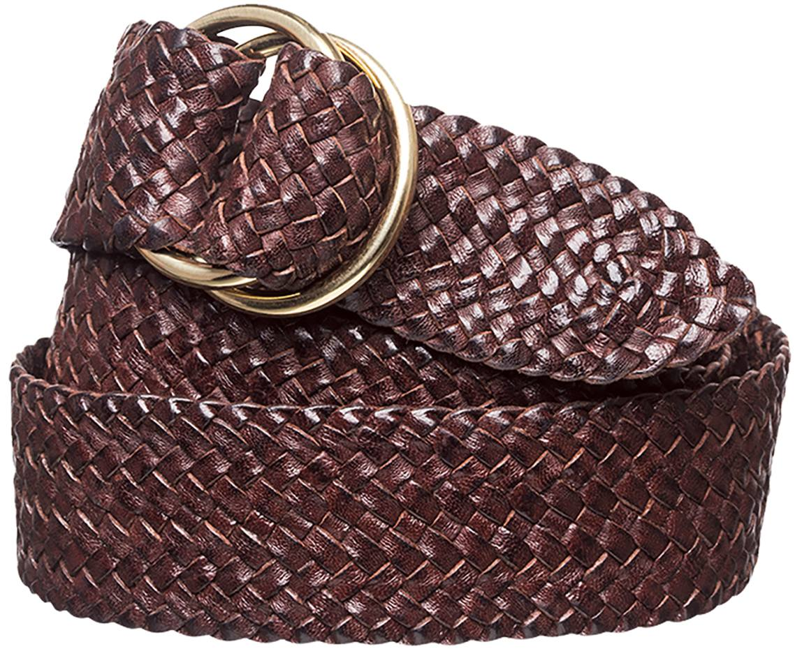 Plaited kangaroo leather belts, from £145