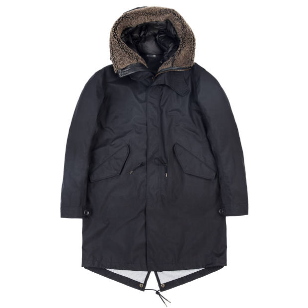 Ten C three-ply parka with optional shearling lining, £695