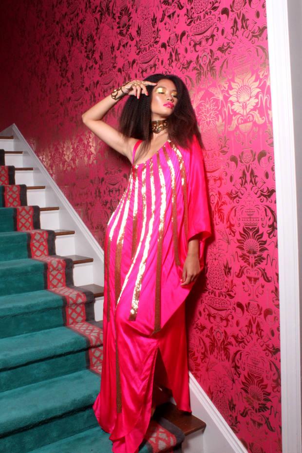 Julia Clancey silk robe, from $2,600