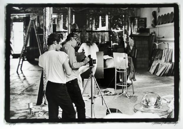 Kennedy's photograph of Warhol and his assistant Gerard Malanga filming Taylor Mead's Ass