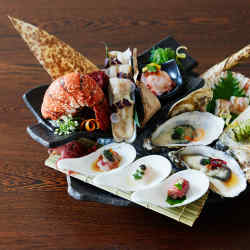 The plateau de fruits de mer will feature sashimi, sushi and other raw seafood