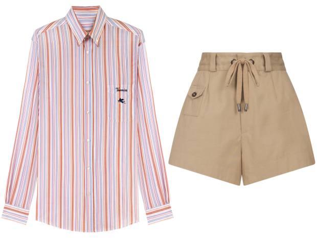 Etro Classic GE01 shirt, £345. Dolce & Gabbana shorts, £475