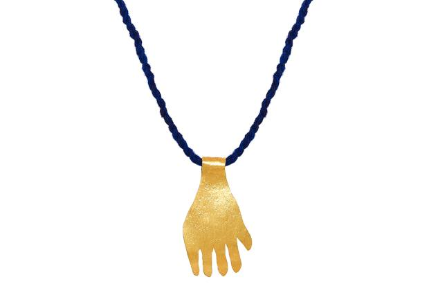 One of two 18ct fair-mined gold pendants created by jewellery designer Pippa Small for Earth Day