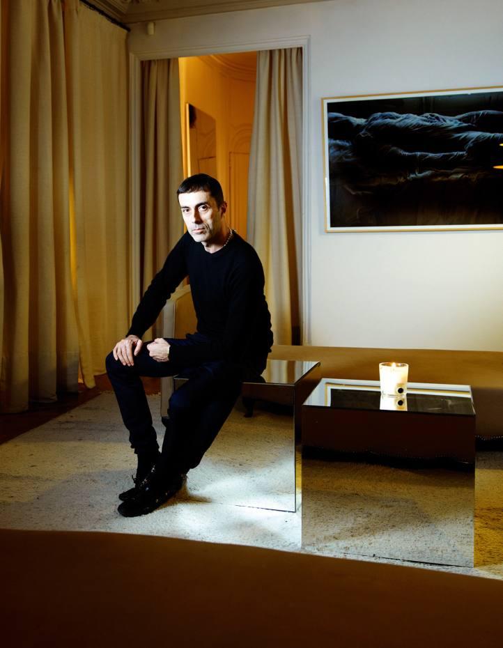 Giambattista Valli in his Paris studio