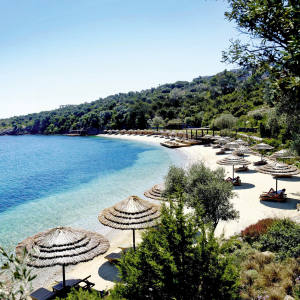 The beach at The Residences at Mandarin Oriental Bodrum