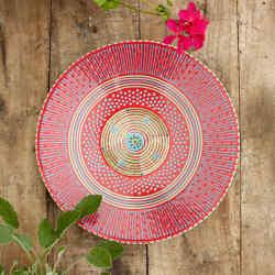 The vibrant Juniper ceramic platter, £135, from Potter's Workshop