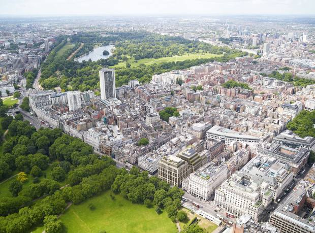 Mayfair and the Royal Parks, with Clarges Mayfair in the foreground