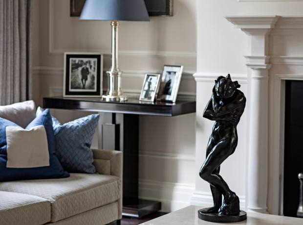 Rodin sculpture in a Finchatton property in Belgravia