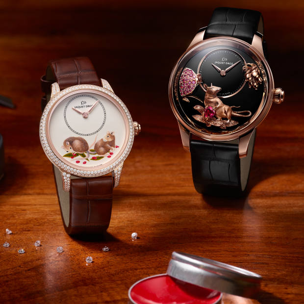 Jaquet Droz Petite Heure Minute Year of the Rat watches (from £26,300)