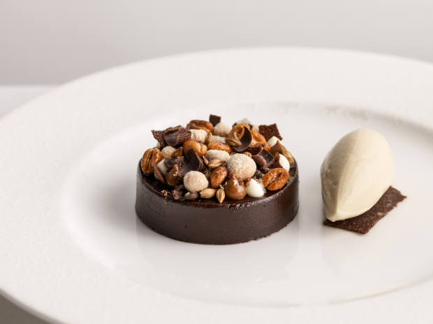 A dark chocolate pudding will be served at Kerridge's Bar & Grill