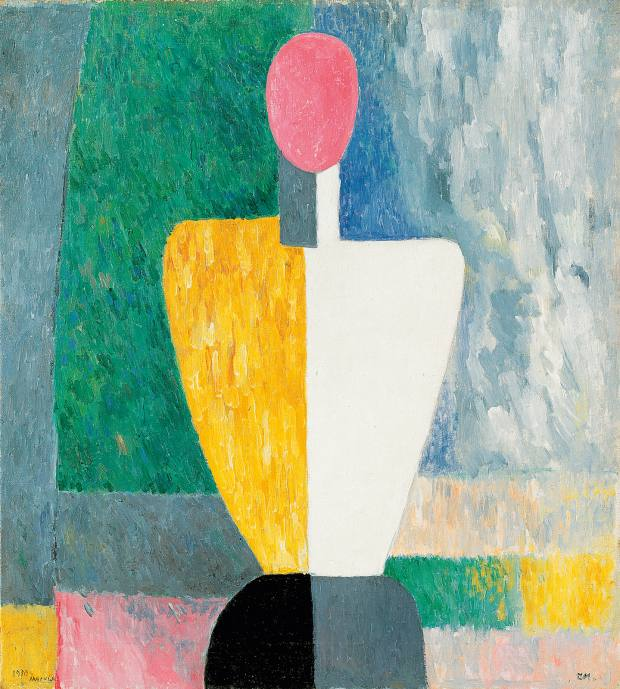Torso (Figure with Pink Face) (1928-32) by Kasimir Malevich