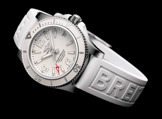 Breitling stainless steel Superocean Automatic 36 on rubber strap, £2,760