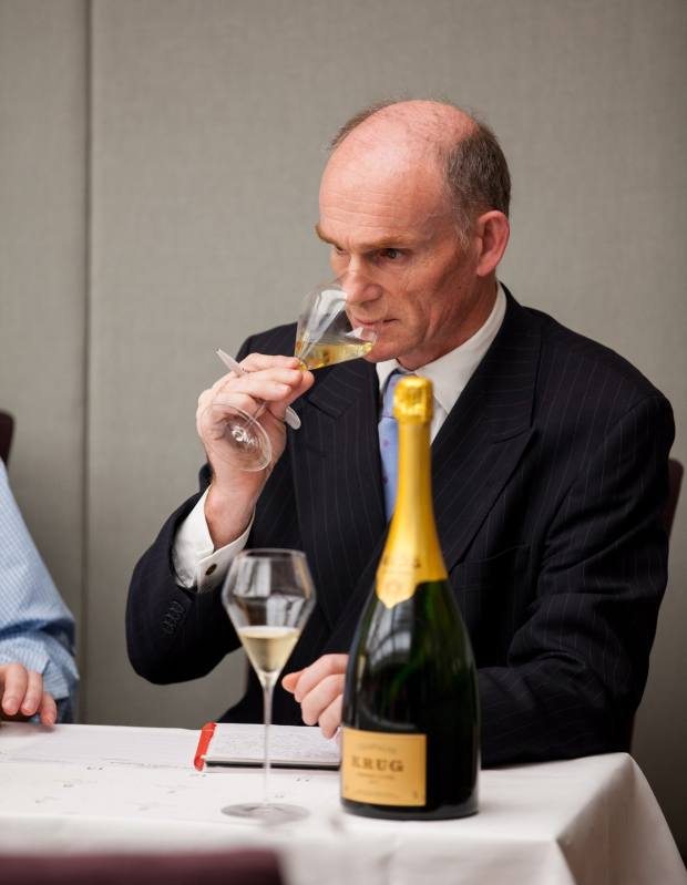Wine expert Philip Tuck at The Finest Bubble's 67 Pall Mall bottle vs magnum tasting last year