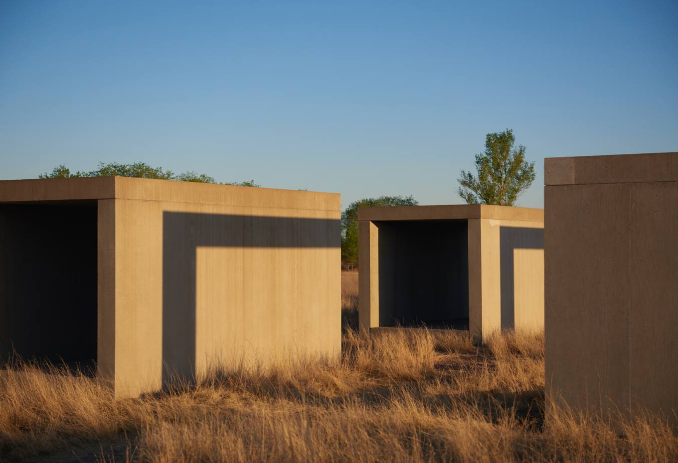 Untitled works by Donald Judd in Marfa, Texas